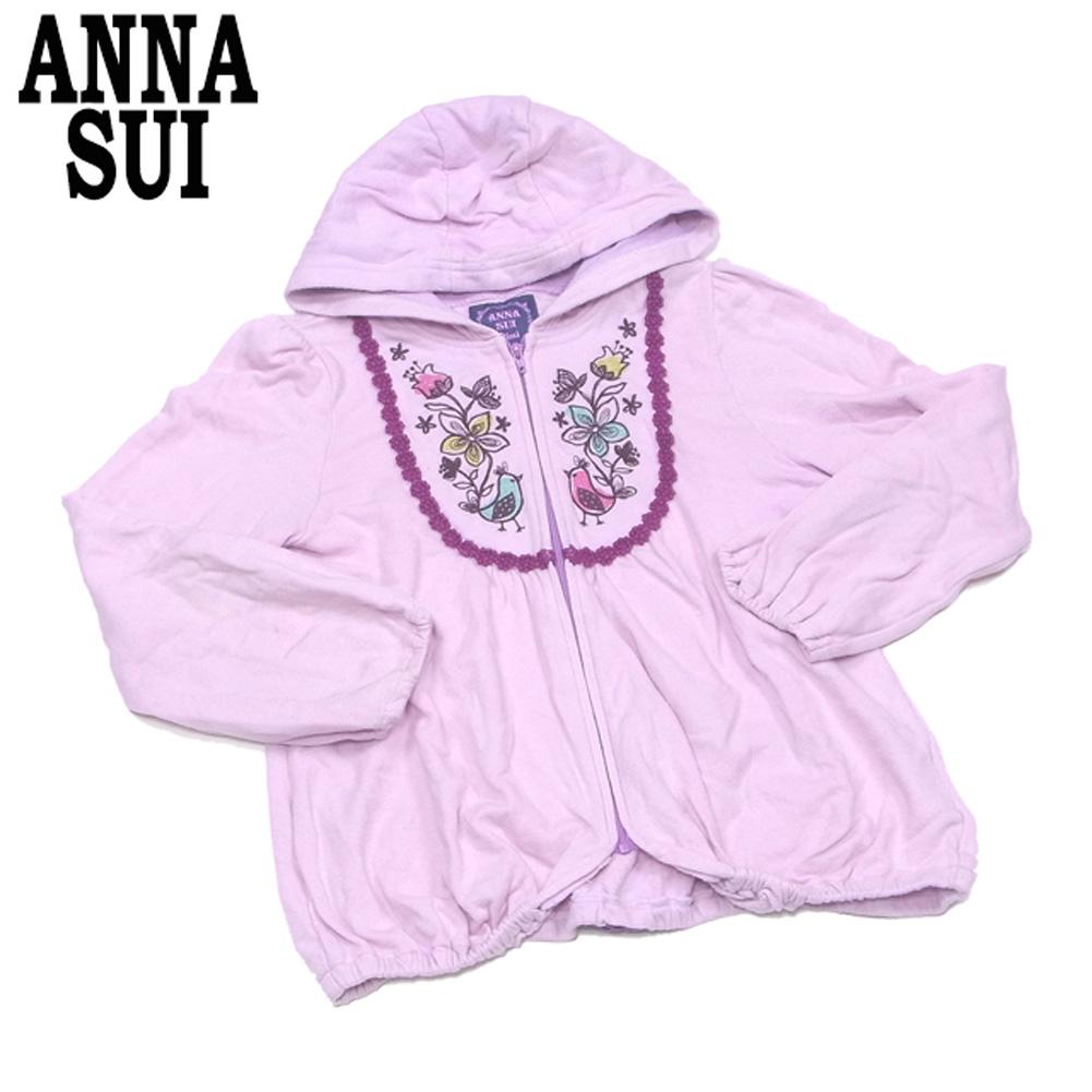 【スーパーSALE】 【20%オフ】 アナスイ ミニ ANNA SUI mini パーカー ショートパンツ ガールズ レディース スカート風パンツ キッズ3点セット 人気 セール 【中古】 T7881