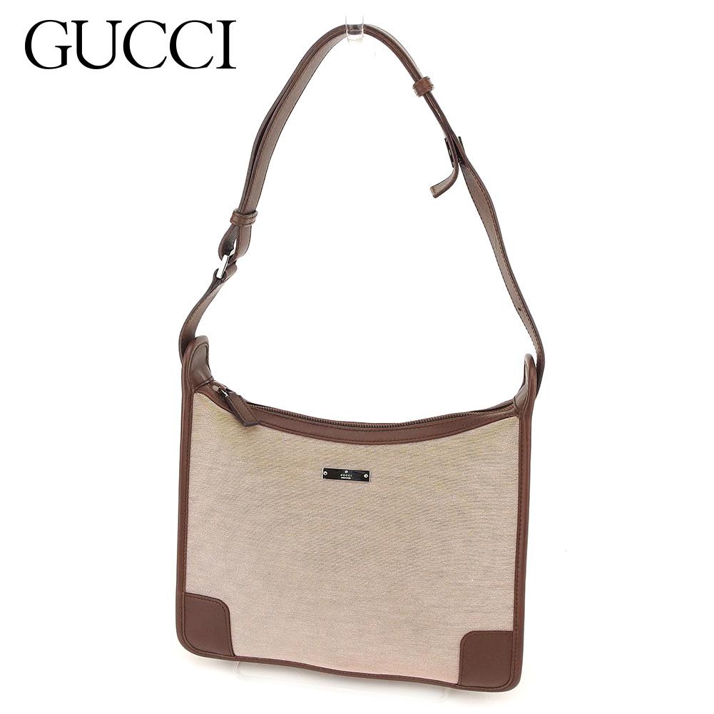 【中古】 グッチ Gucci ハンドバッグ バック ワンショルダー ブラウン レディース C3156s