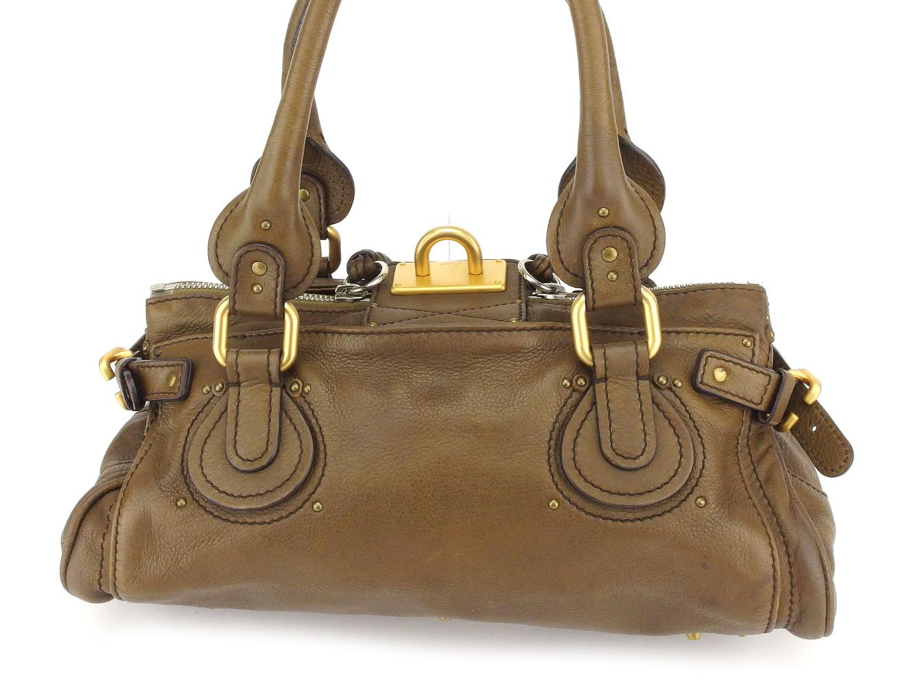 Kuroe Chloe shoulder bag mini-Boston bag Lady s brown leather popularity  sale C3163 d191992addf0b