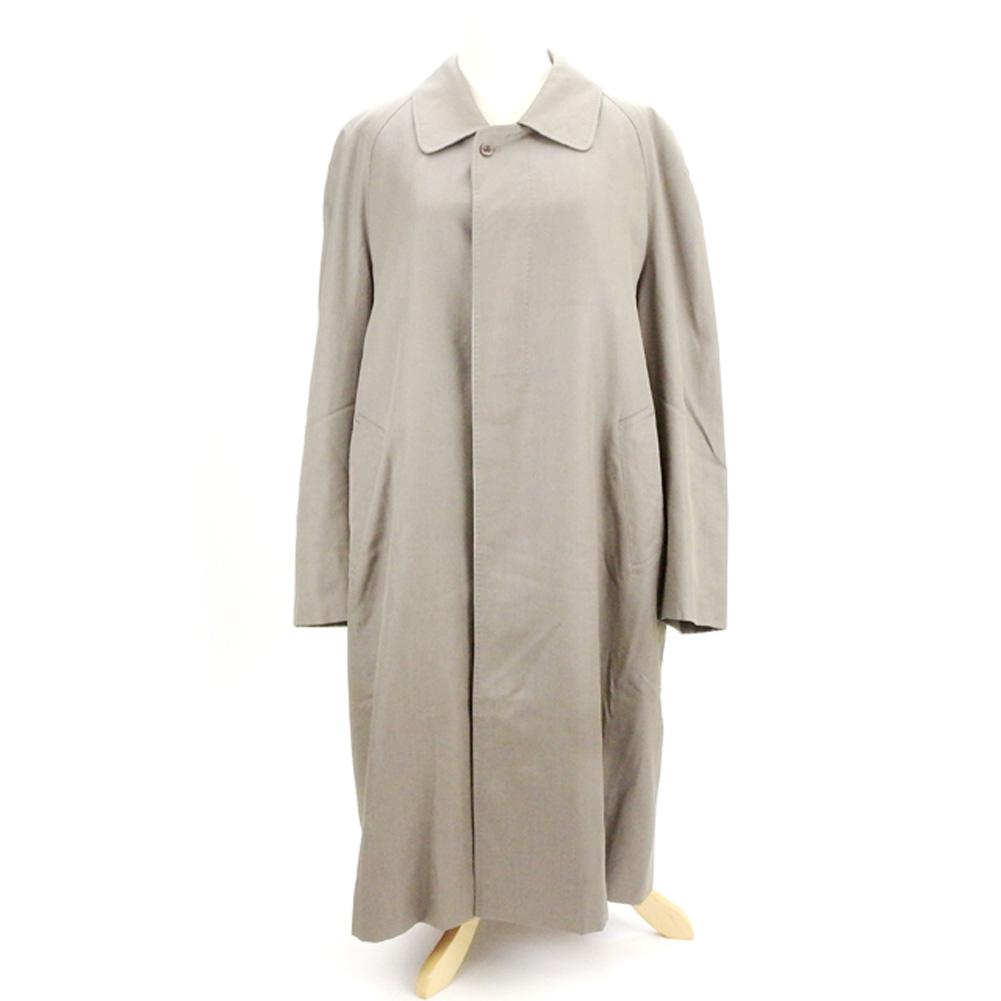 【中古】 ランバン クラシック LANVIN CLASSIQUE コート シングル ロング メンズ ライナー付き グレー 灰色 毛50%カシミア30%絹20%(裏地)ポリエステル・キュプラ(ライナー)毛100%(背裏地)ポリエステル・キュプラ D1899 .