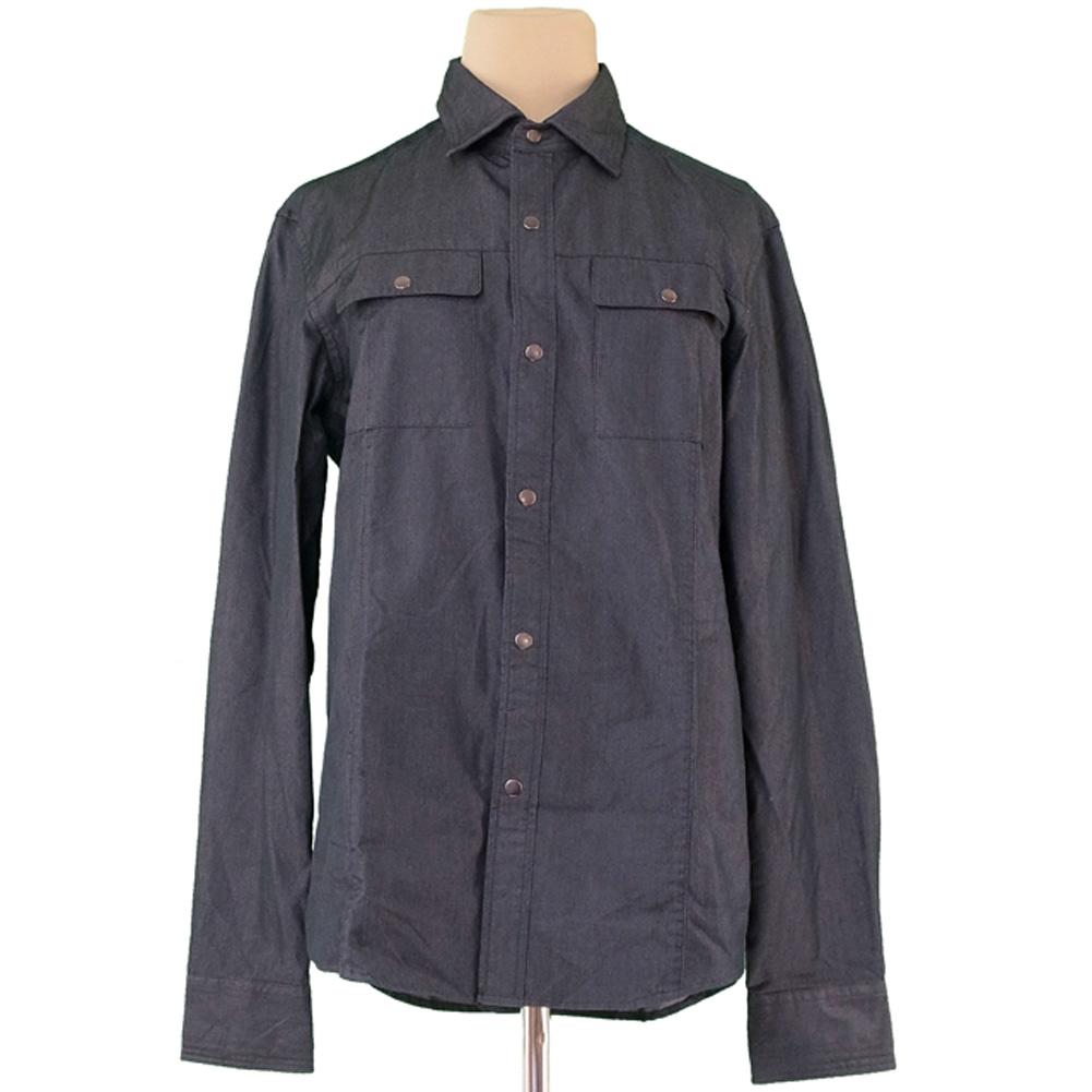 575533cfea6e78 42% of Calvin Klein Calvin Klein shirt long sleeves men ♯ medium size work  gray gray silver cotton cotton 58% silk silk beautiful article sale C3389