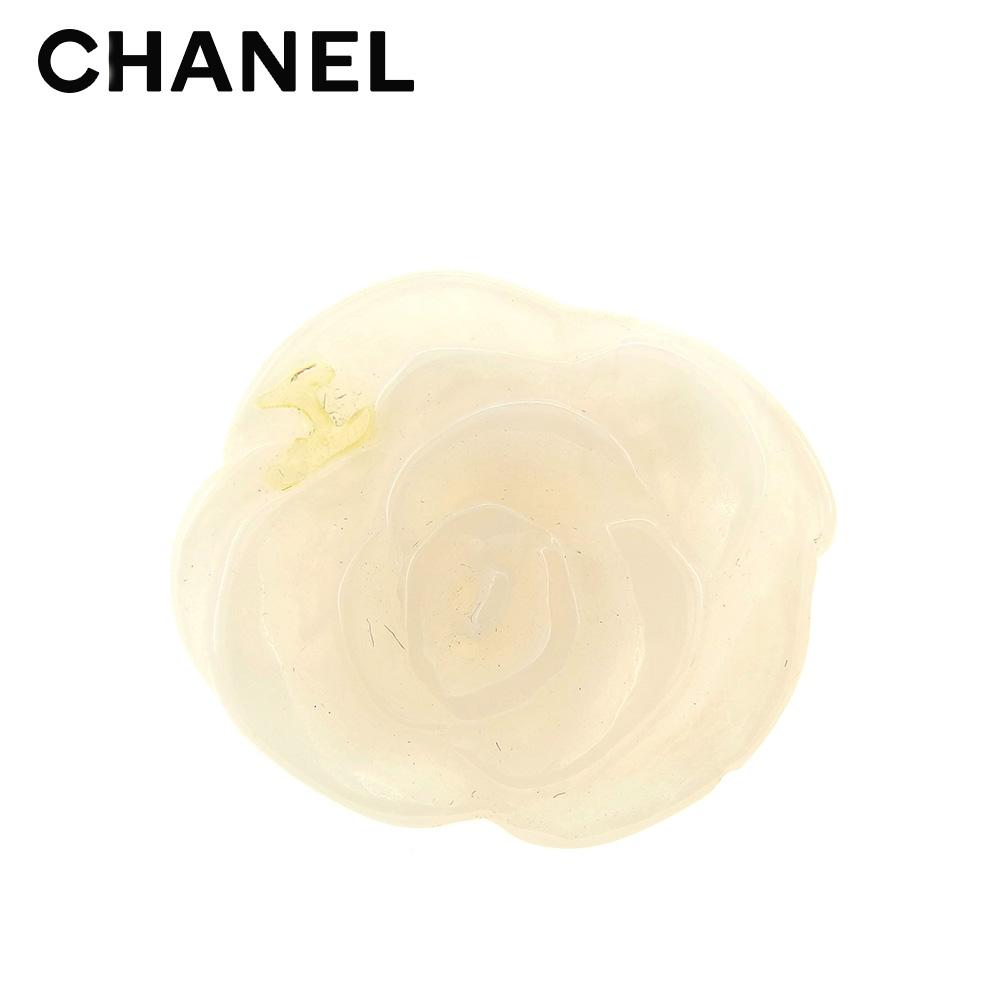 【中古】 シャネル CHANEL 指輪 リング レディース カメリア ホワイト 白 美品 セール T7676