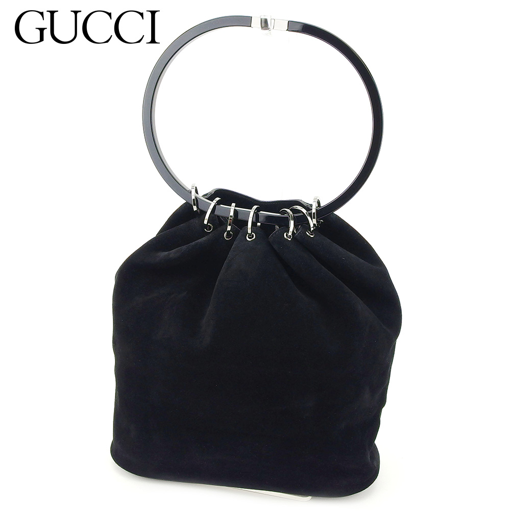 【中古】 グッチ Gucci ハンドバッグ バック ワンショルダー ブラック レディース T7683s .
