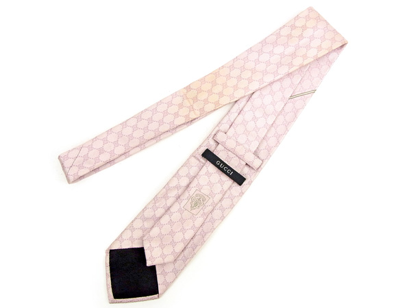구찌 GUCCI 넥타이 레귤러 타이 맨즈 GG 무늬 핑크 SILK/100%인기 세일 J17556