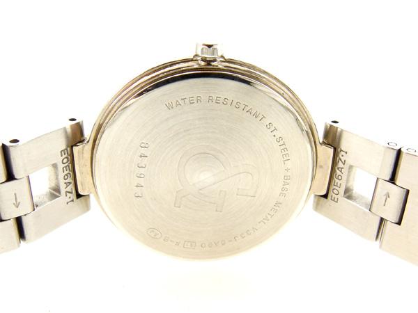 핑키&다이안 Pinky&Dianne 손목시계 쿠트레디스라운드페이스 V33J-6 A90 화이트×실버 스테인레스 스틸(대응) 인기 세일 J12806