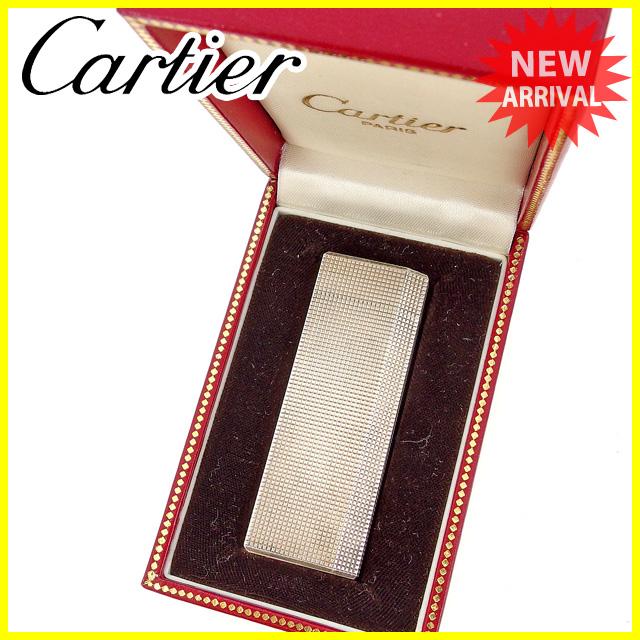 【中古】 カルティエ Cartier ライター メンズ可 シルバー シルバー素材 訳あり E1076 .