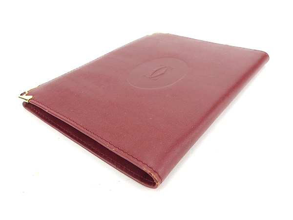 4dfd02dee2be カルティエ Cartier パスポートケース 長札入れ マストライン ボルドー ...