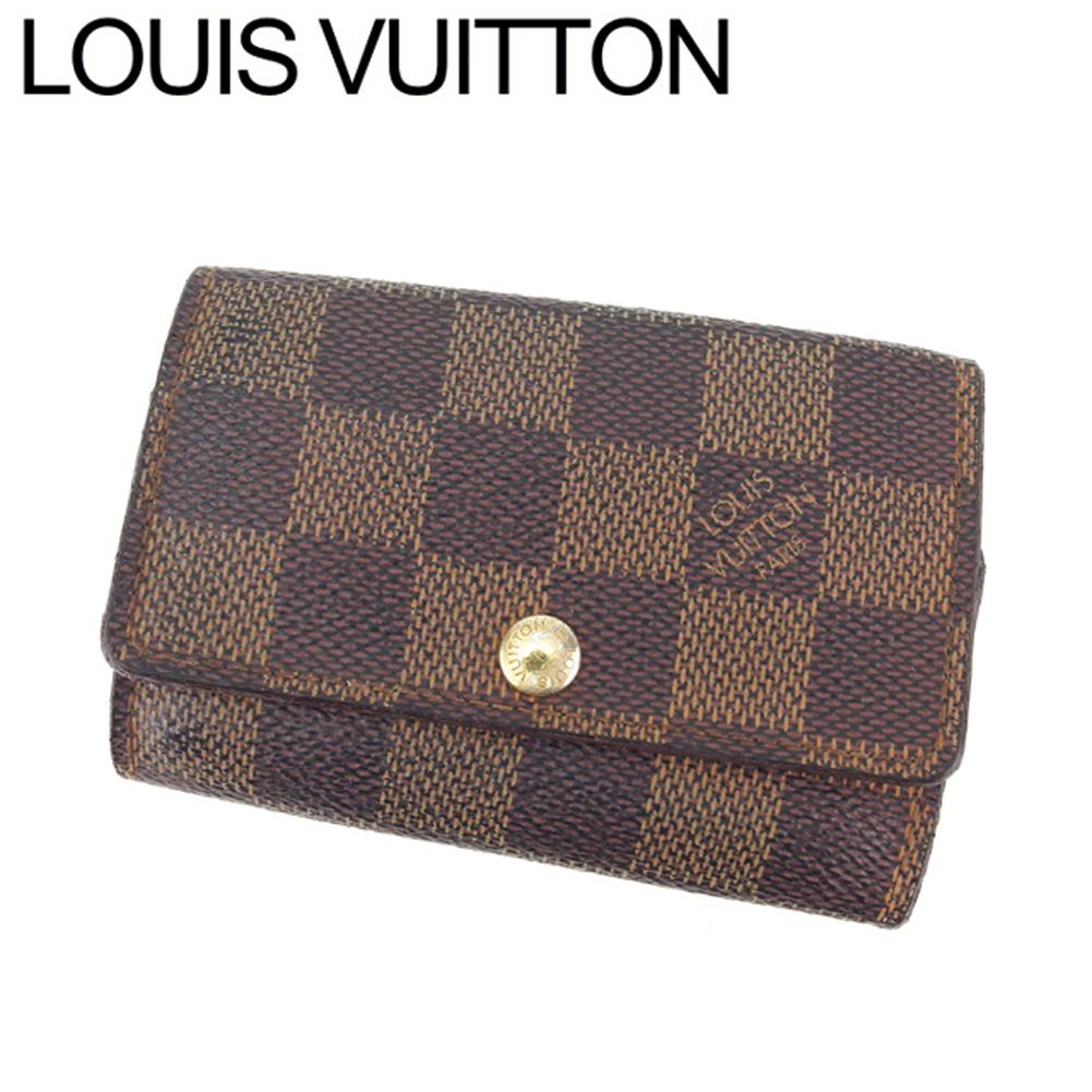 【中古】 ルイ ヴィトン Louis Vuitton キーケース 6連キーケース レディース メンズ ミュルティクレ6 ダミエ エベヌブラウン ダミエキャンバス 人気 セール G1296