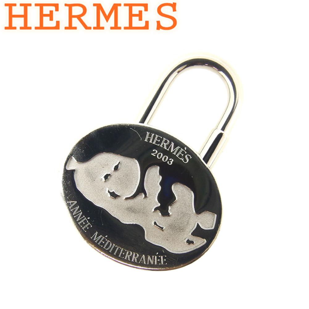 【中古】 エルメス HERMES カデナ チャーム キーホルダー レディース メンズ ANNEE MEDITERRANEE 地中海 2003年 限定 シルバー シルバーメタル 人気 良品 Q469