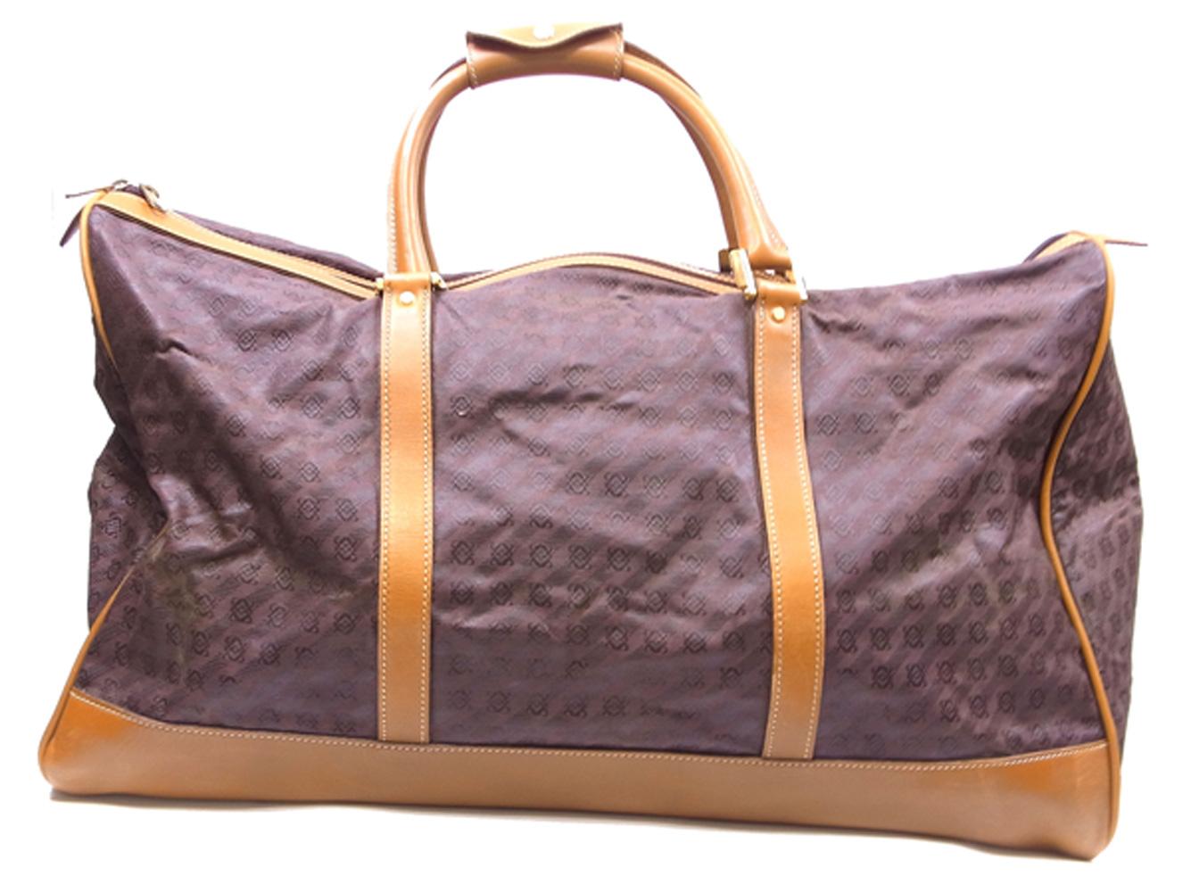 ロエベ ボストンバッグ トラベルバッグ 旅行用バッグ アナグラム柄 ブラウン ベージュ ゴールド キャンバス×レザー LOEWEjLc3RqS54A