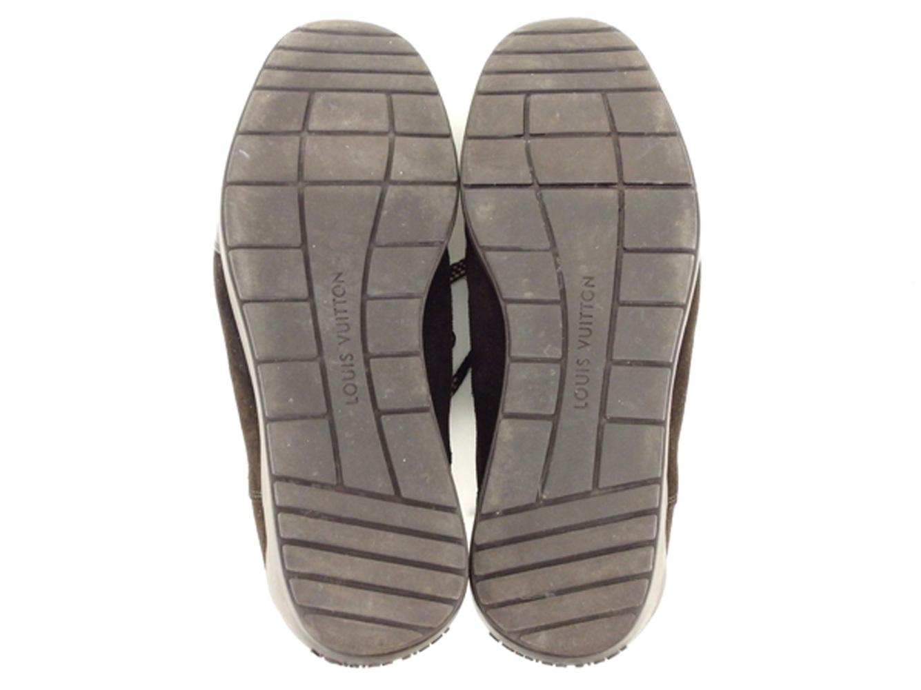ファッションセール10 オフルイ ヴィトン Louis Vuitton スニーカー シューズ 靴 メンズ ♯6 ローカット ブラウン ベージュ スエード×レザー×キャンバス T8669F1TlJ3Kc
