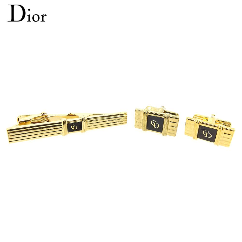 【中古】 ディオール Dior カフス タイピン メンズ ゴールド GP T8821