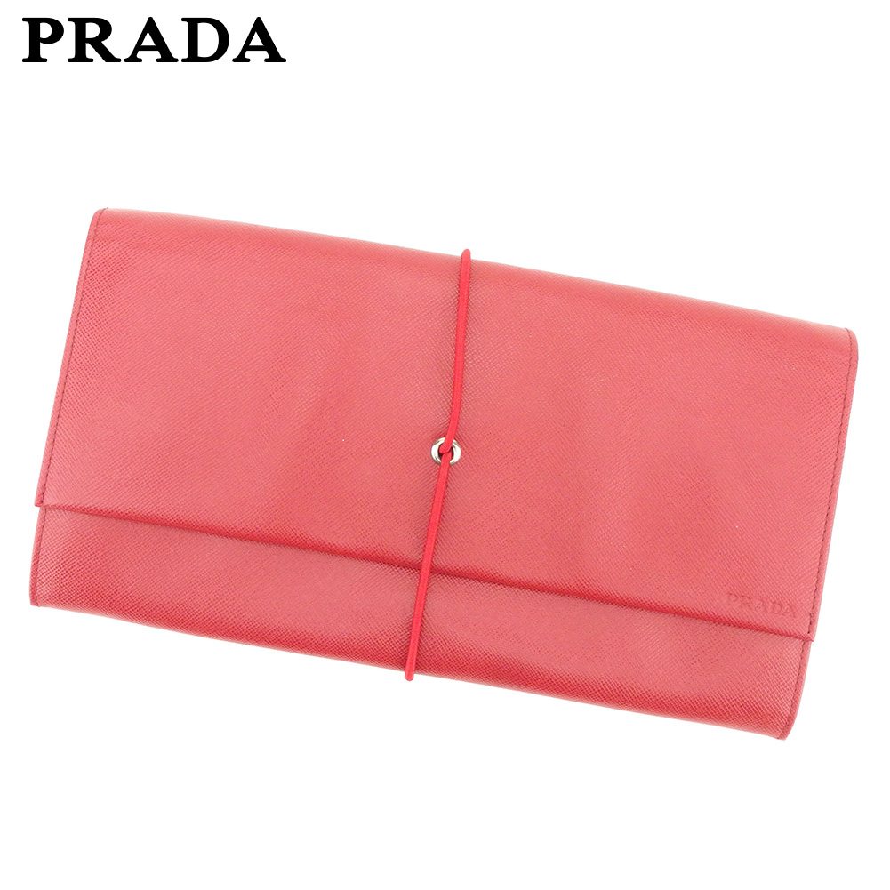 701a8dc9352d Prada PRADA clutch bag second bag Lady's men red leather beauty product sale  T9282