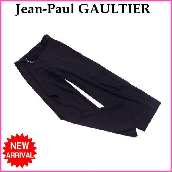 【中古】 ジャンポールゴルチェ Jean-Paul GAULTIER パンツ /ワークポケット付き レディース /ワイドシルエット ブラック (良品) B917
