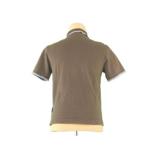 f0f8054c ... Monk rail MONCLER polo shirt short sleeves men ♯ small size logo emblem  khaki X blue ...