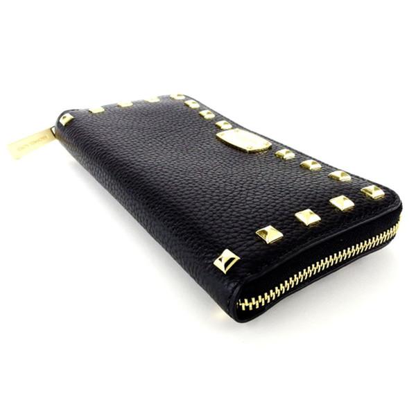 2d32634dccf5c8 Michael Kors MICHAEL KORS long wallet lady's men's possible studs black  black leather-free T4775