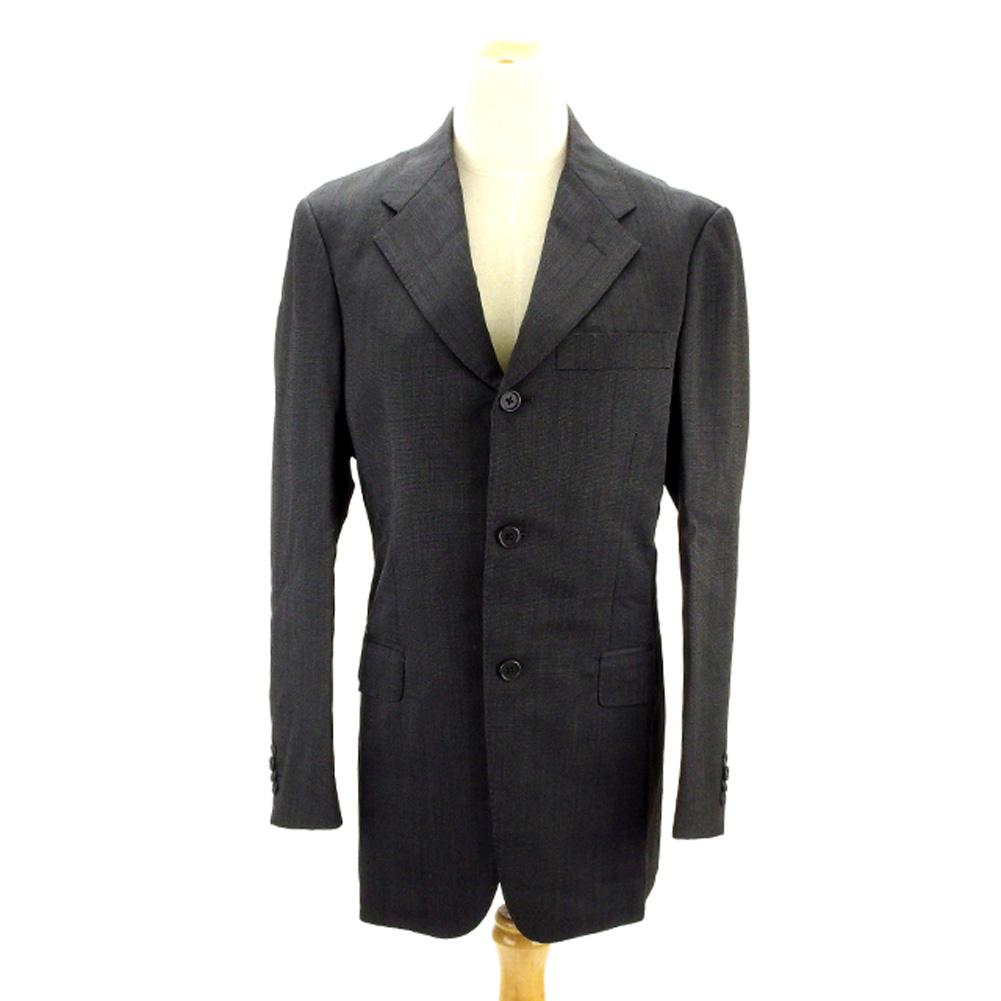 【中古】 ユナイテッドアローズ UNITED ARROWS スーツ メンズ ♯44サイズ テーラージャケット×センタープレスパンツ ブラック系 W/100%(裏地)CP/100% (あす楽対応)激安 人気 R1087 .