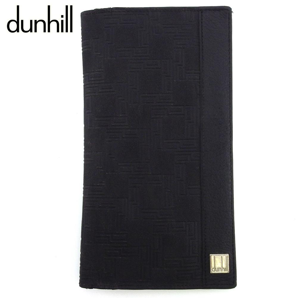【中古】 ダンヒル 長札入れ 札入れ メンズ ディーエイト D8 ブラック PVC×レザー dunhill L3085