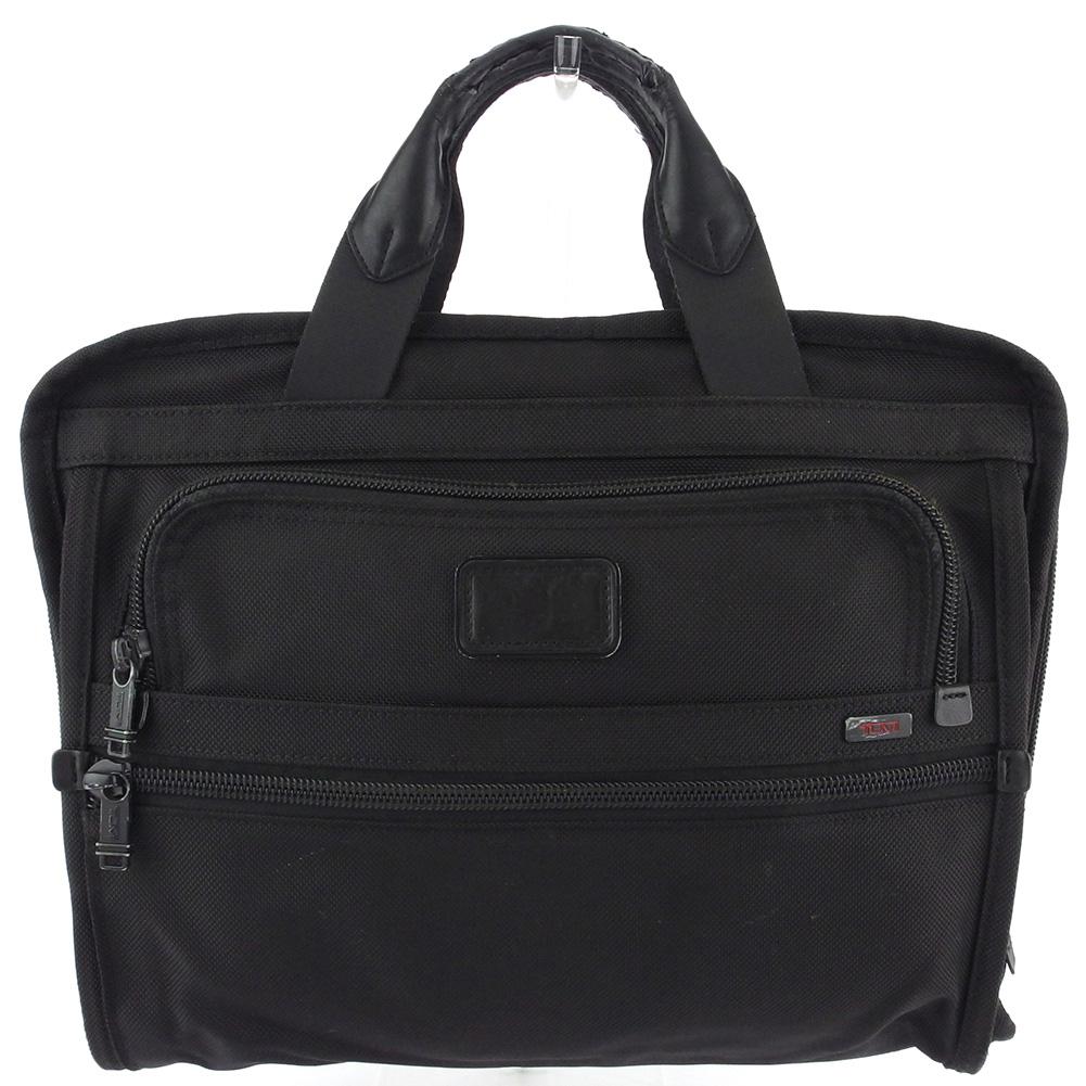 【中古】 トゥミ ビジネスバッグ ブリーフケース メンズ ロゴ ブラック レッド バリスティックナイロン TUMI Q653