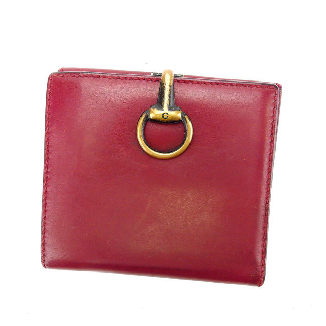 65e8c42de54 Gucci GUCCI W hook wallet folio wallet man and woman combined use G clip  101603 Bordeaux X gold leather (correspondence) A1019
