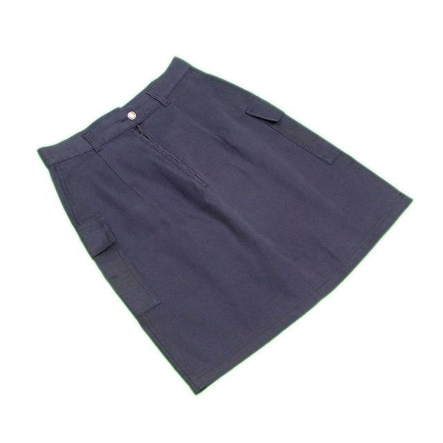 【値引きクーポン】 【中古】 フェンディジーンズ FENDI jeans スカート レディース ♯28インチ ブラック×ゴールド A1099 .