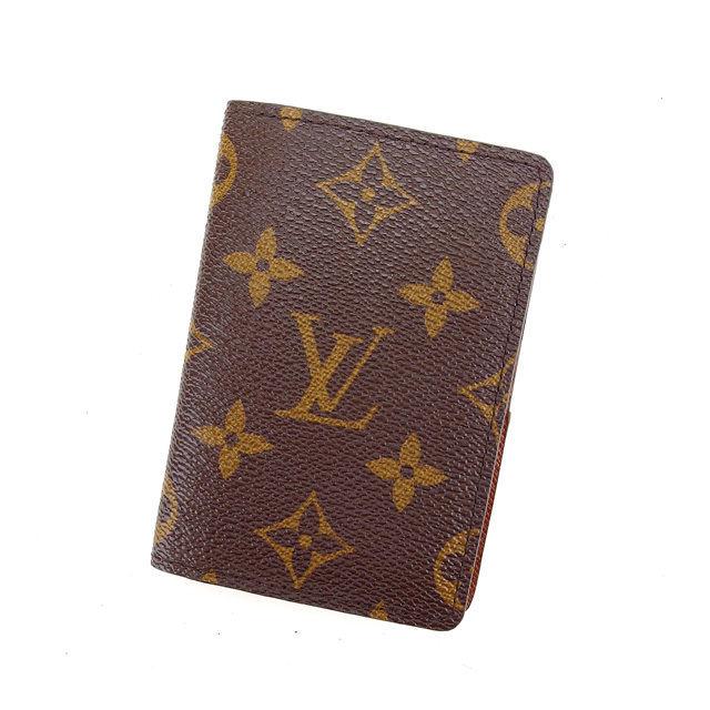 【中古】 ルイヴィトン Louis Vuitton カードケース 名刺入れ オーガナイザードゥポッシュ モノグラム ブラウン モノグラムキャンバス A1251 .