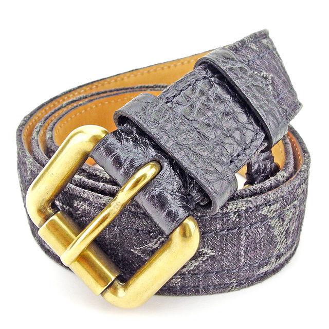 【中古】 ルイ ヴィトン ベルト 80/32 Louis Vuitton ノワール(ブラック) A1583s