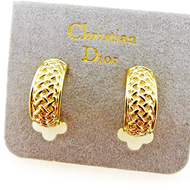 【中古】 ディオール Dior イヤリング アクセサリー メンズ可 ゴールド ゴールド素材 美品 A1622 .
