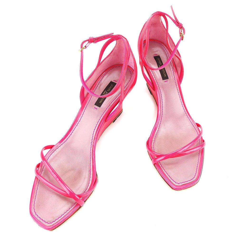 【中古】 ルイ ヴィトン Louis Vuitton サンダル #36 ピンク レディース A1716s