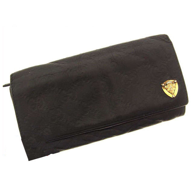 6fcf585fc71 (Vintage) (Correspondence) Gucci bags   wallet   guccissima   black    leather A244. Used - Acceptable