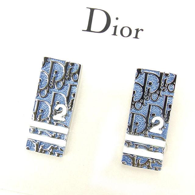 【中古】 クリスチャン・ディオール Christian Dior イヤリング アクセサリー レディース トロッター ブルー×シルバー A925 .
