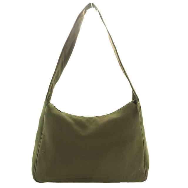 (Cheap and quick delivery) (Correspondence) Miu Miu  miumiu   khaki shoulder  bag     leather   cotton B154 7e4d99ec7717c