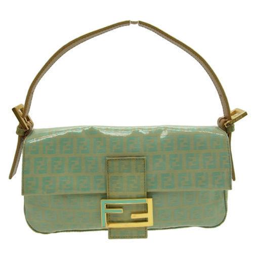 (Cheap and quick delivery) (Correspondence) Fendi  FENDI   handbag    zucchino   green vinyl B374 29d75a1cd8fc7