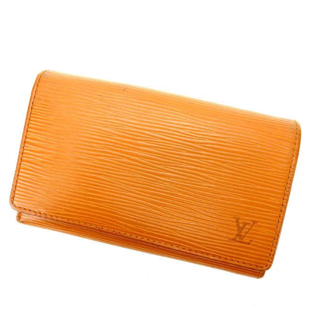 【中古】 ルイヴィトン Louis Vuitton L字ファスナー財布 メンズ可 ポルトモネビエトレゾール エピ ブラウン PVC×レザー C1320 .