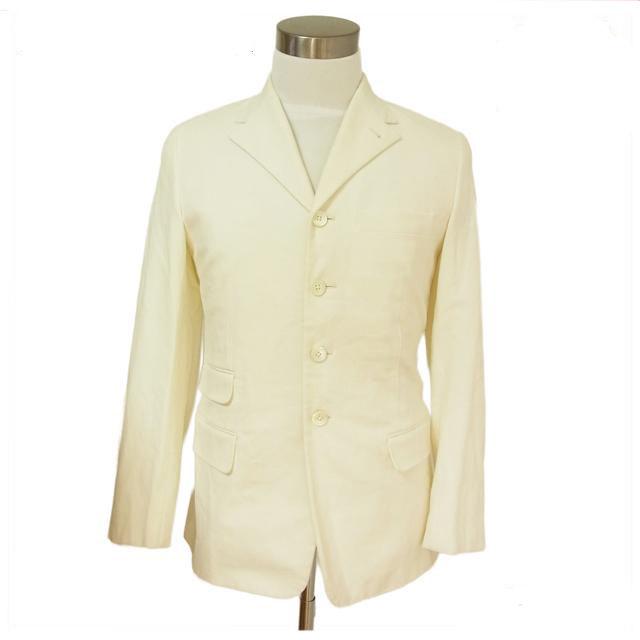 【中古】 プラダ PRADA テーラードジャケット レディース ホワイト C252