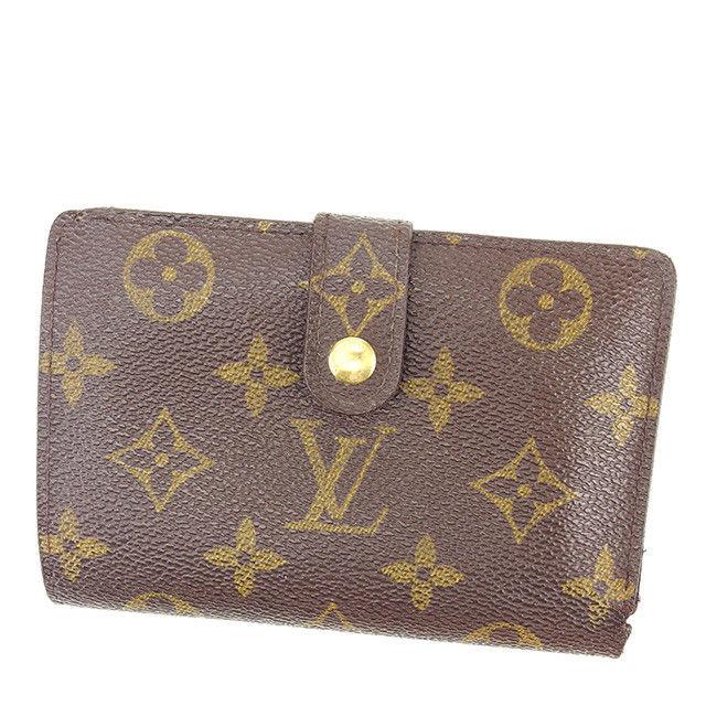 【中古】 ルイ ヴィトン LOUIS VUITTON 二つ折り財布 がま口 メンズ可 ポルトフォイユ・ヴィエノワ モノグラム PVC×レザ- C2788 .