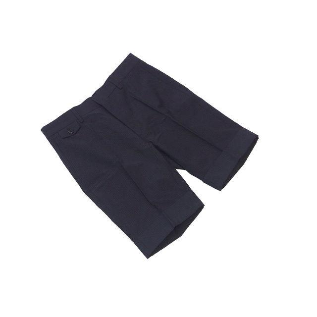 【中古】 マークジェイコブス MARC JACOBS パンツ ハーフ丈 メンズ ♯44サイズ センタープレス グレー×ネイビー系 C2971 .