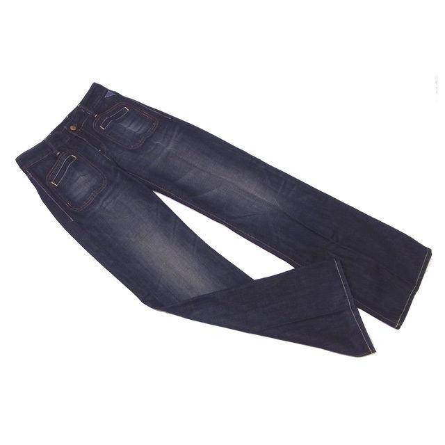 【値引きクーポン】 【中古】 リプレイ REPLAY ジーンズ ブーツカット パンツ レディース ♯26サイズ センタープレス ウォッシュネイビー C3025 .