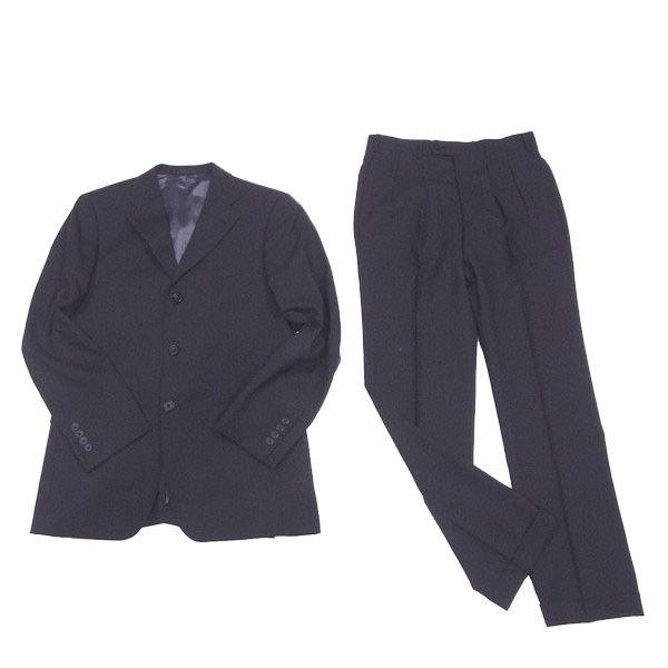 【中古】 バーバリー ブラックレーベル BURBERRY BLACK LABEL スーツ センタープレスパンツ メンズ テーラージャケット チェック ブラック 人気 C3036 .