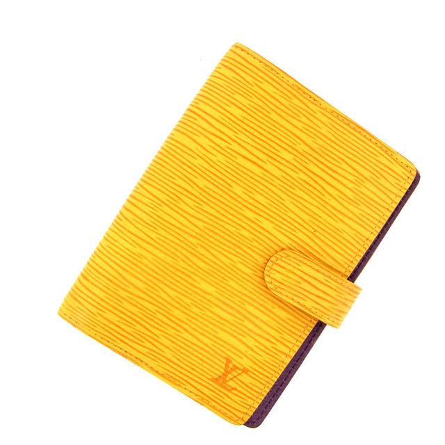【中古】 ルイヴィトン Louis Vuitton 手帳カバーアジェンダPM エピ イエロー レザー C902 .