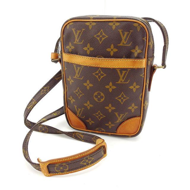 【中古】 ルイヴィトン Louis Vuitton ショルダーバッグ 斜めがけショルダー メンズ可 ダヌーブ モノグラム M45266 ブラウン モノグラムキャンバス D1361 .