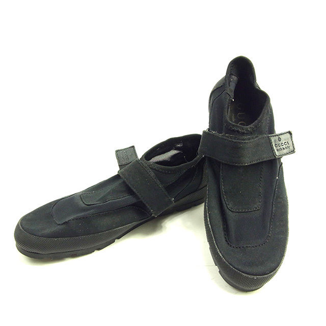 Gucci by GUCCI shoes water shoes men s water shoes black   grey canvas with  rare sale D1407 e9a37f4af