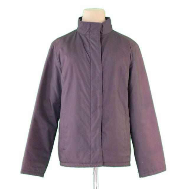 【中古】 バーバリー BURBERRY ジャケット 中綿入り レディース ♯38サイズ シングルZIP ブラウン PE/100%キュプラ(中綿)ポリエステル (あす楽対応)激安 D1502 .