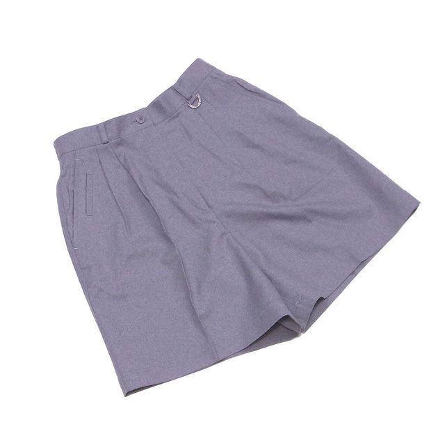 【中古】 ディオール Dior パンツ センタープレス レディース ♯Lサイズ スポーツライン ハーフ グレー×シルバー ウール羊毛100% 超美品 D1773 .