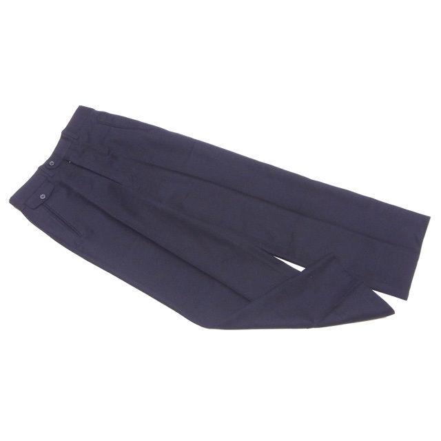 【中古】 サンローラン SAINT LAURENT パンツ ♯72サイズ メンズ diffusion hommes センタープレス ブラック ウール毛100% 美品 D1783 .