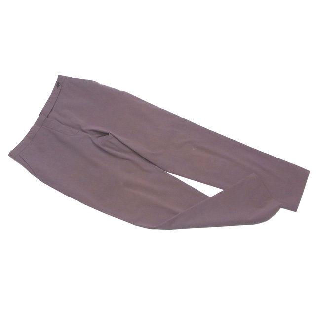 【中古】 プラダ PRADA パンツ レディース ♯38サイズ ブラウン コットン綿73%ナイロン20%ポリウレタン7% D1802 .