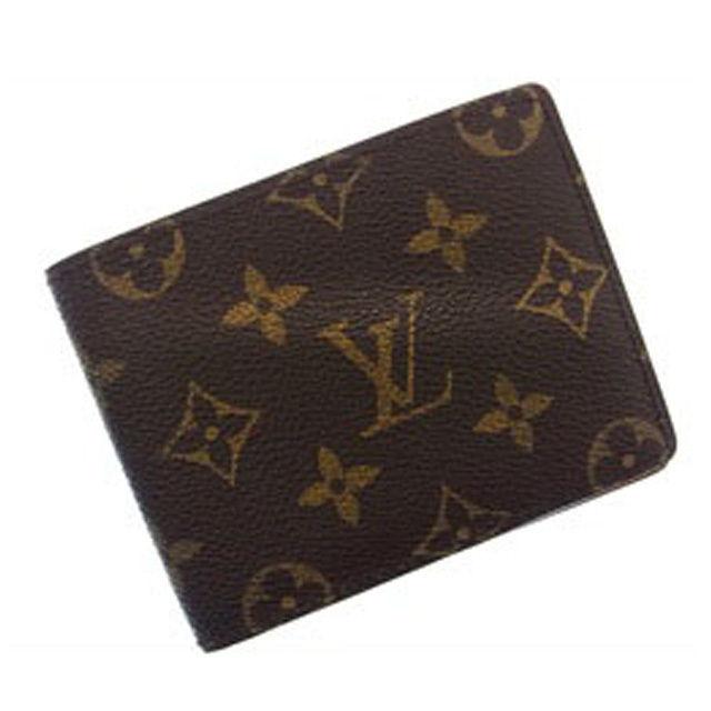 【中古】 ルイヴィトン Louis Vuitton 二つ折り札入れ モノグラム CA0915 (あす楽対応)(廃盤レア) D200 .