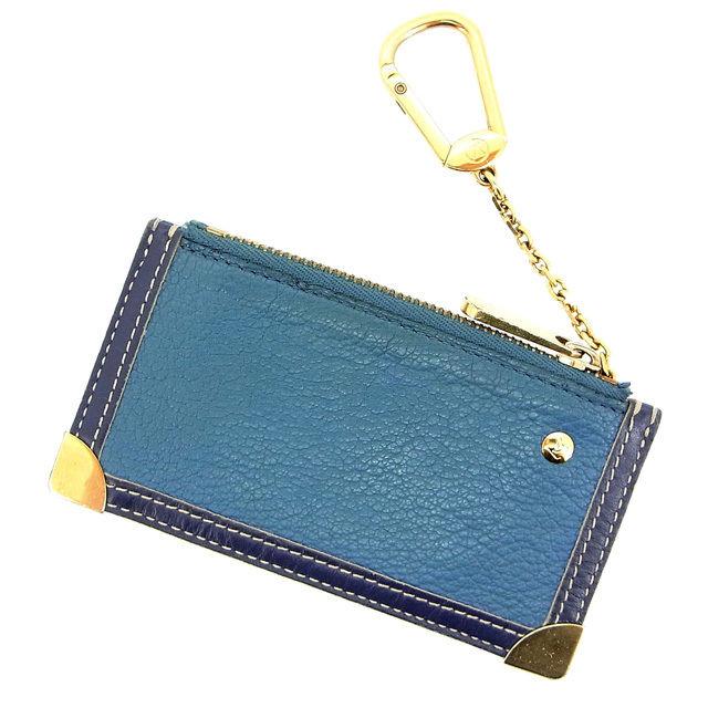 【中古】 ルイヴィトン Louis Vuitton コインケース キーリング スハリ ブルー D956 .