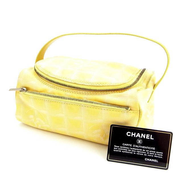 【中古】 シャネル CHANEL バニティ ハンドバッグ レディース ニュートラベルライン イエロー E485