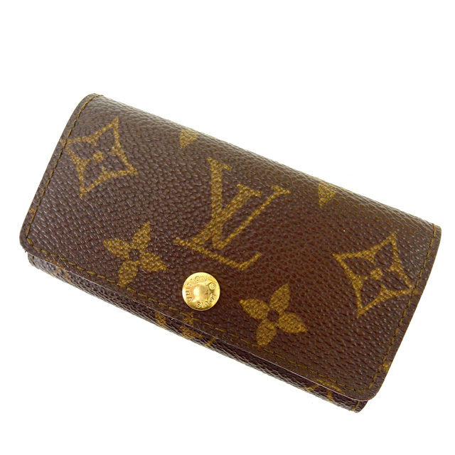 【中古】 ルイヴィトン Louis Vuitton キーケース 4連キーケース メンズ可 ミュルティクレ4 モノグラム PVC×レザー E564 .